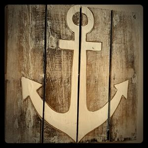 Wooden Anchor Wallart